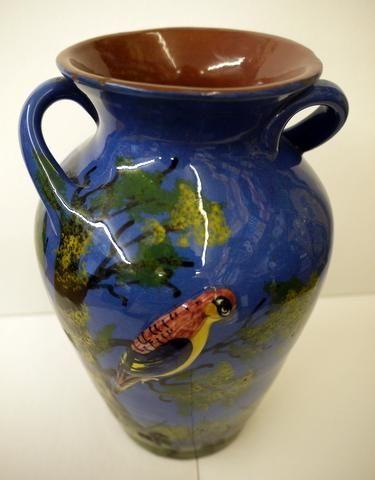 Two Handled Vase Longpark Torquay Ware Gunns Gallery